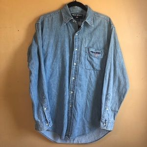Vintage Polo Sport Jean button up shirt